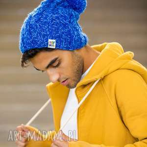 czapki endorfina lets go, niebieska, czapka, z wełny, na zime, męska, czapa