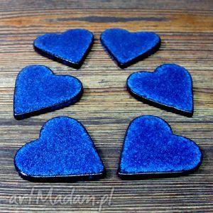 Kobaltowe serduszka magnesy pracownia ako magnes, magnesy