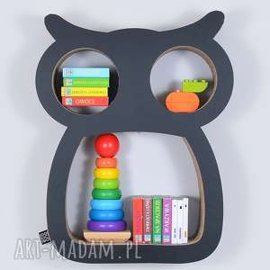 handmade pokoik dziecka półka na książki zabawki sowa ecoono | czarny