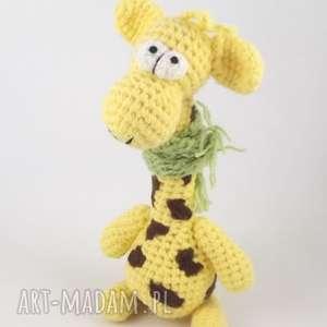 Prezent RAFFA - SZYDEŁKOWA ŻYRAFA, żyrafa, żyrafka, maskotka, wesoła, rękodzieło