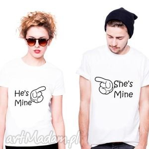 Koszulka dla Par He s mine - She , fun, love