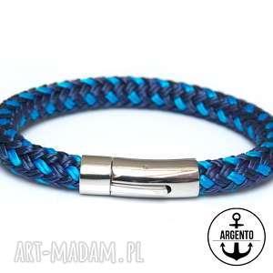 męska bransoletka z liny żeglarskiej bransolety męskie bransoletki argento