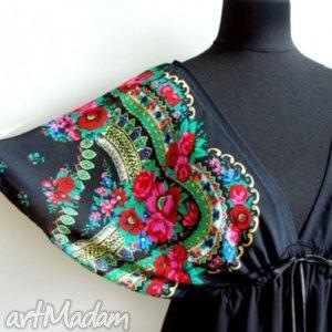 handmade sukienki czarna sukienka w stylu folk