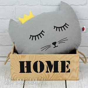 poduszka kotek z koroną -szary, kot, pokój dziecka
