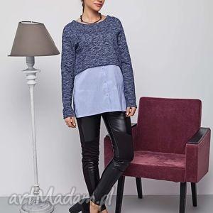 bluza sportowa z miekkiej podwójnej dzianiny, bluzy, swetry, modny, ciepły, damski