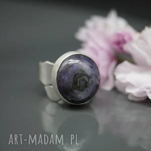 Rubin gwiaździsty - pierścionek Afaren , duży, rubin-gwiaździsty