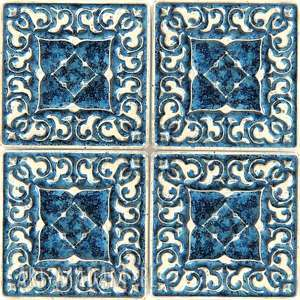 dekory małe szaroniebieskie, dekory, kafle, płytki, ścienne, ceramiczne