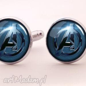 avengers - spinki do mankietów - avengers, superbohater, spinki, mankietów, faceta