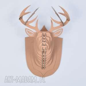 głowa jelenia trofeum ozdoba 3d poroże ecoono xl, trofeum, głowa, jeleń