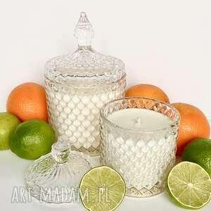 dom naturalna świeca sojowa zapachowa, ręcznie robiona w kryształowym pojemniku
