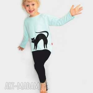 bluzka dziewczęca z długim rękawem nadrukiem, bluzka, bluza, dzianina, nadruk