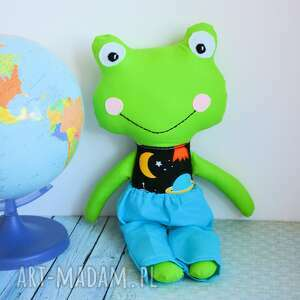 żabka - super kumpel michał 45 cm, żabka, kosmos, maskotka, przyjaciel