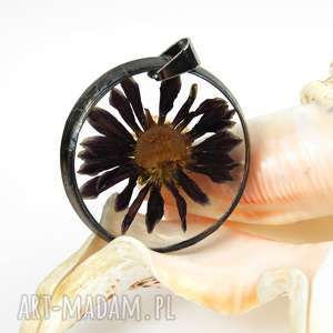 hand made naszyjniki z1111 naszyjnik z suszonymi kwiatami, herbarium jewelry, kwiaty