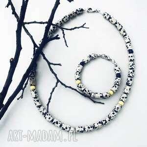 oryginalny prezent, komplet aurea, jaspis, biżuteria z kamieniami, kamienie