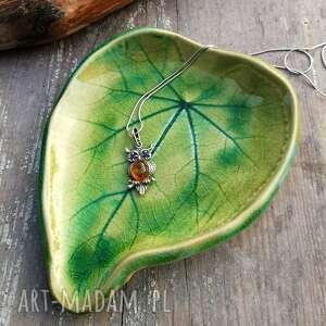 ceramiczny talerzyk liść c50, liść, talerzyk, ceramika, ceramiczny, podstawka