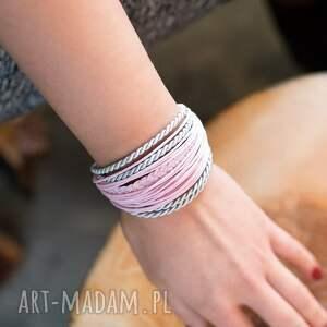 WHW Mini Mess - Pink Love, sznurkowa, sznureczkowa, zwijana, zawijana, warkocz