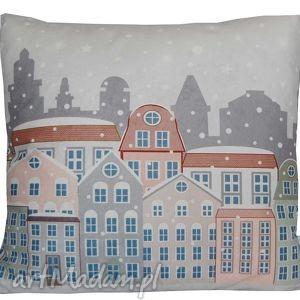 unikalne prezenty, poduszka zimowa wzór 9, zimowa, dekoracyjna, świąteczna, miła