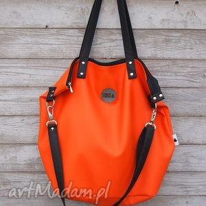 torba worek waterproof #orange, worek, pomarańcz, prezent, zakupy, ekoskóra