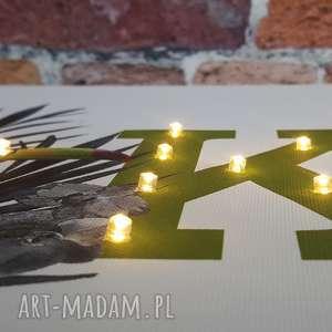Prezent ŚWIECĄCA litera MONSTERA TUCAN obraz LED dekoracja lampka nocna prezent