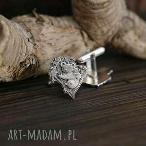 misie koala srebrne spinki do mankietów, biżuteria