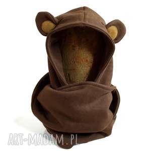 komin z kapturem dla dziecka - miś, komin, niedźwiedź, zwierzę, uszy, dziecięcy