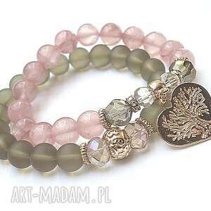antique pink vol 9 /16 05 17/ duo, marmur, szkło, kryształki, serce