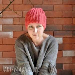 The Wool Art - wełniana czapka, kolorowaczapka, nadrutach dodatki, nagłowę, prezent