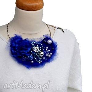 hand-made naszyjniki kobalt naszyjnik handmade