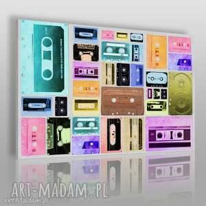 obraz na płótnie - kasety kolorowy 120x80 cm 71801, kasety, kolorowy, vintage