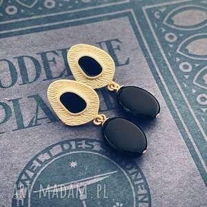 kolczyki sabina, eleganckie kolczyki, złote modne