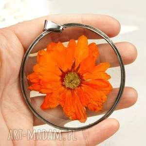 Z04 naszyjnik z suszonymi kwiatami, herbarium jewelry, kwiaty
