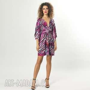 sukienka z szerokimi rękawami, sukienka, wyszczuplająca, elastyczna