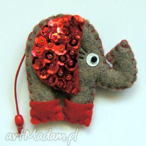 słonik cekiniak - filc, słoń, błyszczący, lekki, miękki, cekiny