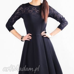 sukienki sukienka zuza midi czarna koronka