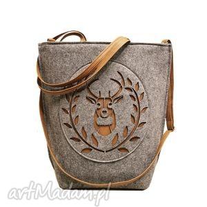 ręczne wykonanie na ramię shopper bag folk godło skandynawia