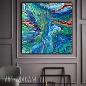 RAFA Obraz ręcznie malowany; abstrakcja na płótnie, salonu, canvas,