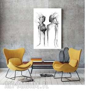 obraz ręcznie malowany na płótnie akt nowoczesny, obraz-do-salonu, obraz-malowany-akt