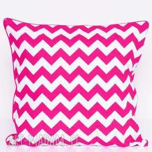 poduszki poduszka zygzak dark pink 50x50cm, zygzak, poduszki