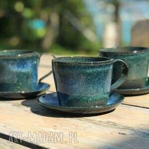ręcznie lepiony kubek ceramiczny - duża filiżanka ok 350 ml, ceramika