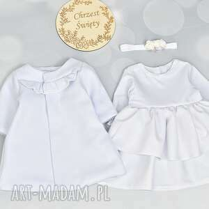 zestaw do chrztu plaszczyk sukienka opaska rozm 56, dochrztu, ubrankodochrztu