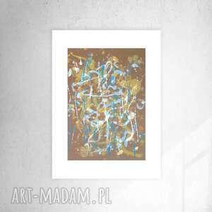 oryginalna grafika na ścianę, ładna abstrakcja do pokoju, nowoczesny rysunek