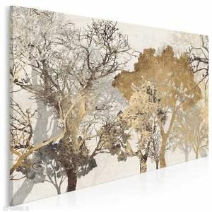 obraz na płótnie - drzewa brąz 120x80 cm 18102, drzewa, stonowany
