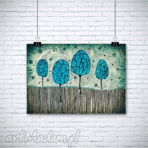 drzewa a1, drzewa, natura, plakat, obraz dom