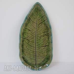 ceramika ceramiczny talerz liść, artystyczny talerz, roślinna