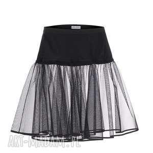 ręczne wykonanie sukienki halka rozkloszowana pin up czarna