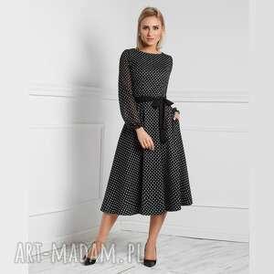 sukienki sukienka aniela total midi donata grochy średnie
