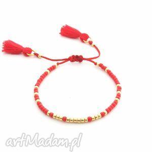 handmade bransoletka minimal - simple red