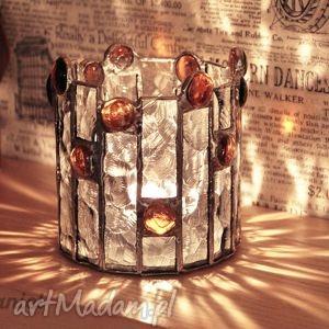 Lampion witrażowy Dorotka, lampion, świecznik, witraż,