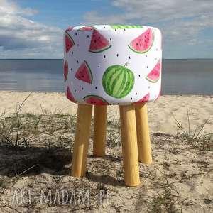 pufa arbuz - 45 cm, puf, taboret, hocker, vintage, siedzisko, stołek