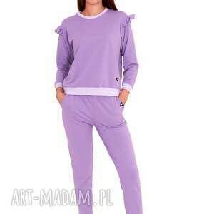 sportowe dres damski ella kolor fioletowy, sport, bluza, sukienka, dres, bluzka